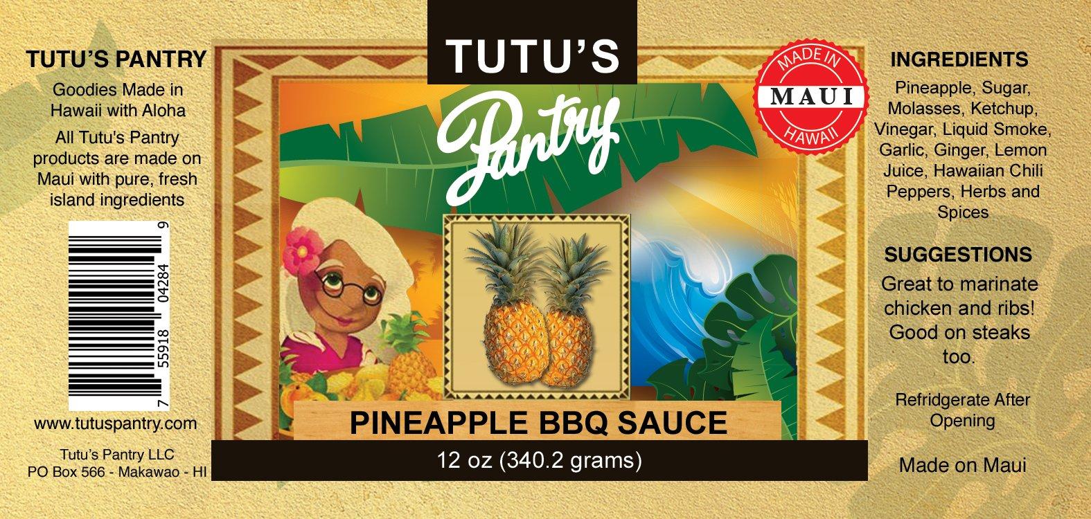 pineapple bbq sauce label