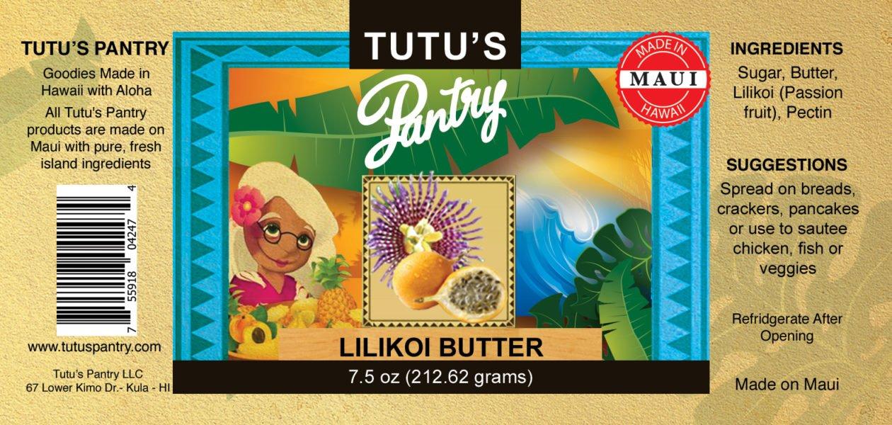 lilikoi butter label