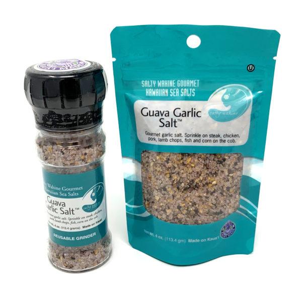 Tutu's Pantry - Guava Garlic Refillable Grinder Sea Salt - 1