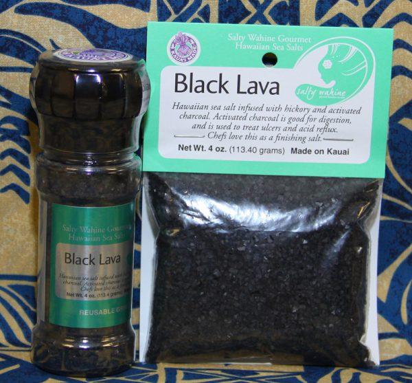 Tutu's Pantry - Black Lava Refillable Grinder Sea Salt - 2