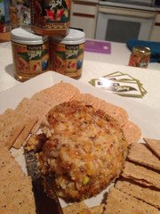 Coconut Curry Macadamia Nut crusted Cheese Ball
