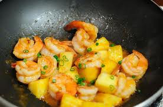 Spicy Pineapple Shrimp