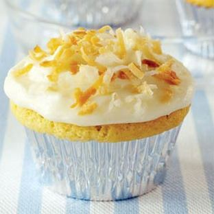 Vanilla Cupcakes Filled with Pineapple Butter