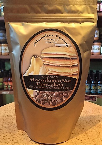 macadamia nut pancake mix with banana chocolate