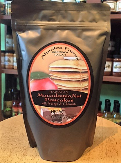 macadamia nut pancake mix with mango chocolate