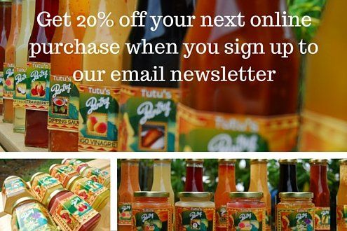 Sign up to receive Tutu's Pantry special offers