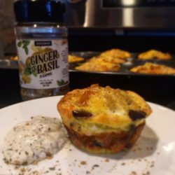 savory muffins with ginger and basil