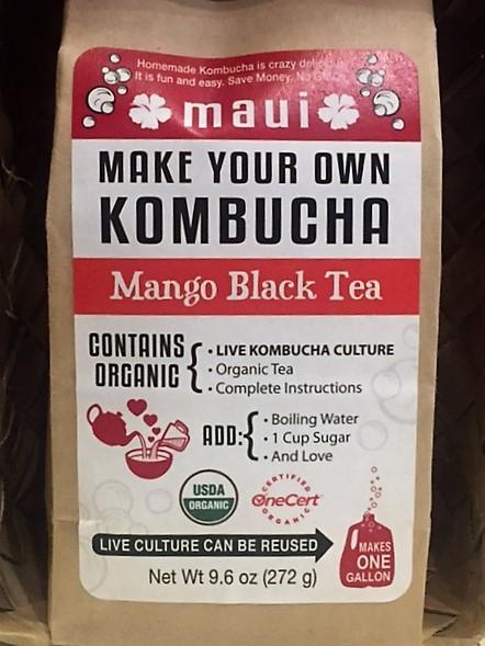 mango black tea kombucha