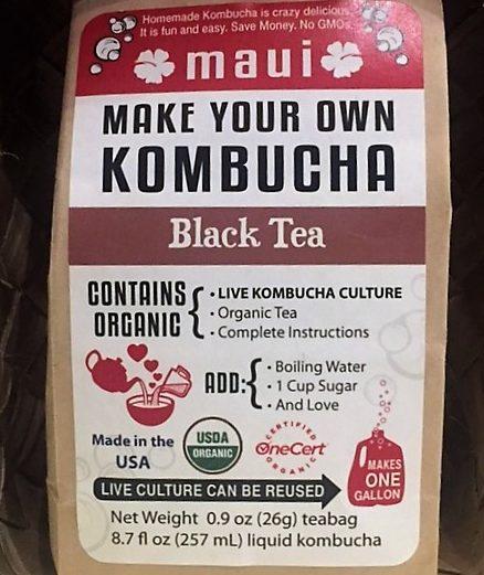 black tea kombucha