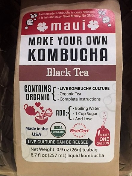 black tea kombucha