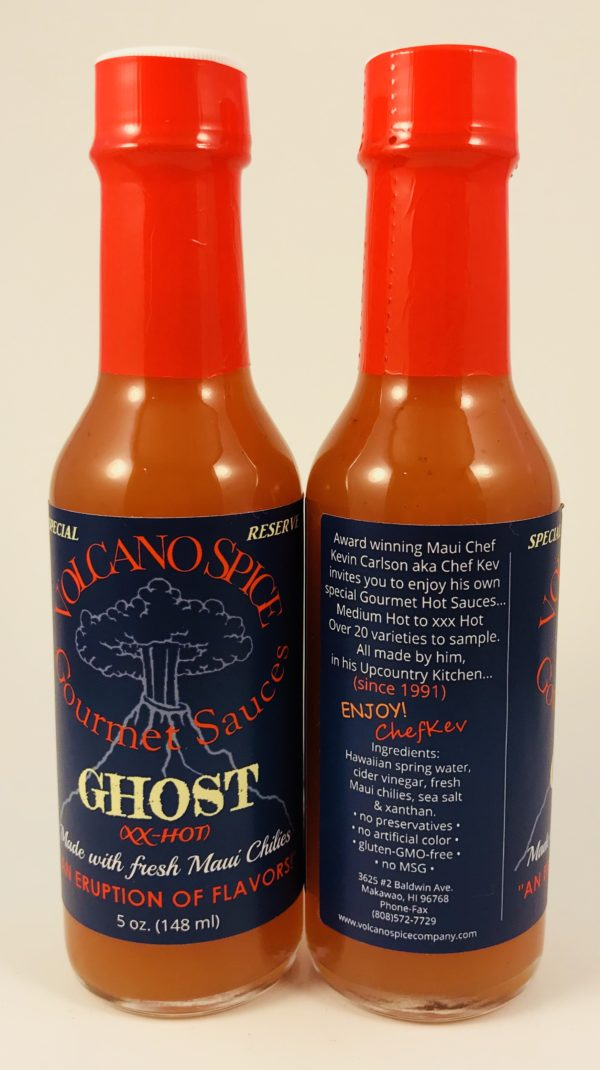 Volcano Spice Ghost Chili Pepper Hot Sauce