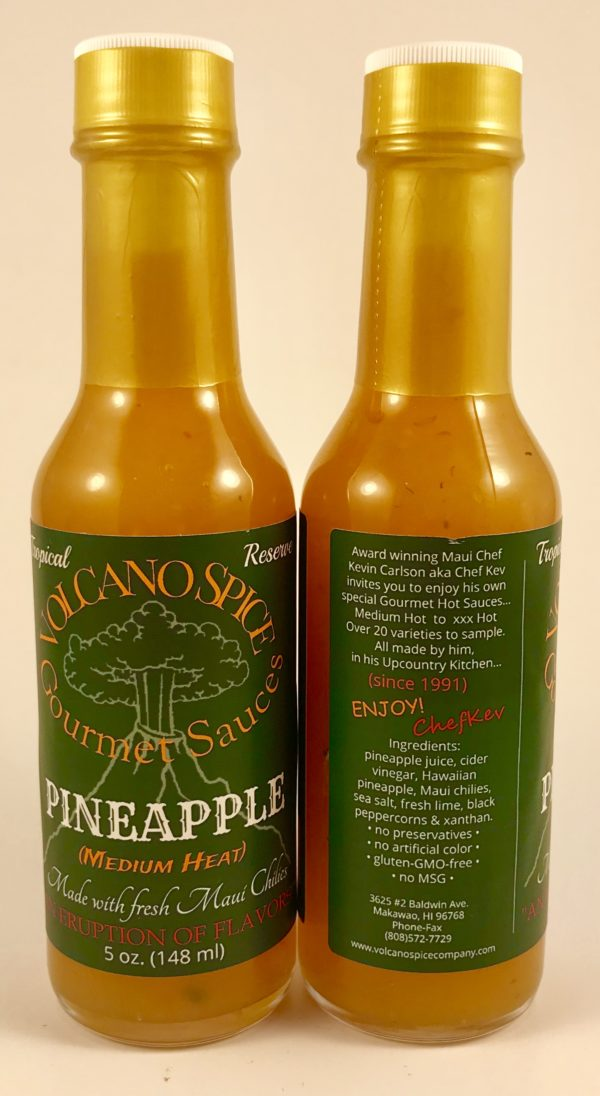 volcano spice pineapple hot sauce