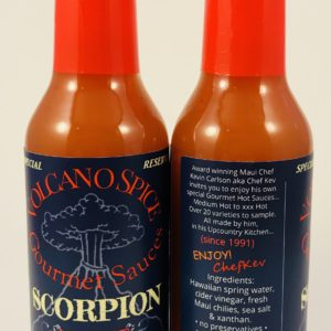 volcano spice scorpion hot sauce