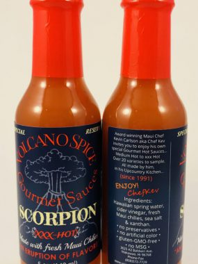 volcano spice scorpion hot sauce