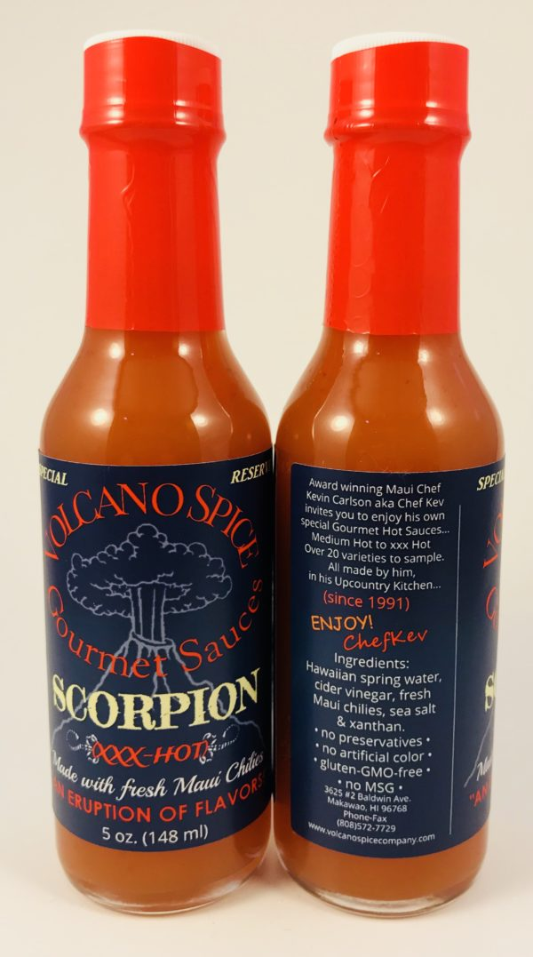 Volcano Spice Scorpion Pepper Hot Sauce