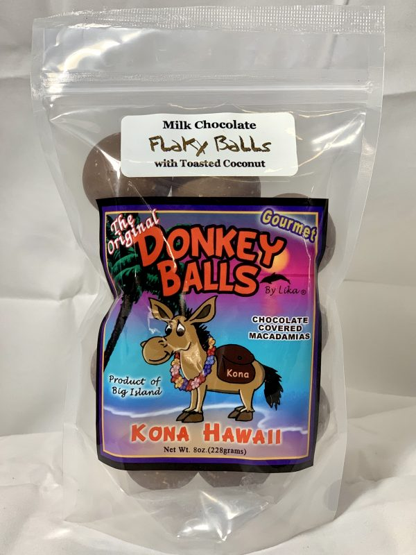 Tutu's Pantry - Milk Chocolate Flaky Balls With Toasted Coconut - Donkey Balls 4oz - 1