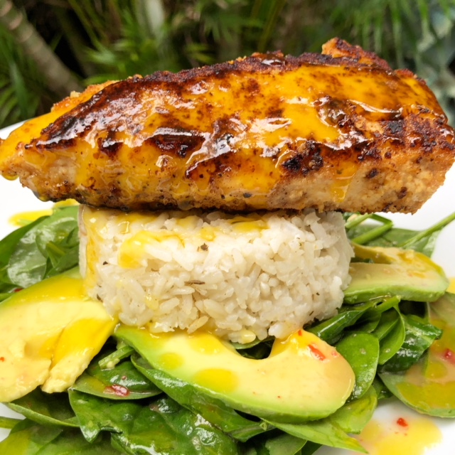 Tutu's Pantry - Lavender Macadamia Nut Crusted Mahi Mahi with melted Mango Butter - 3