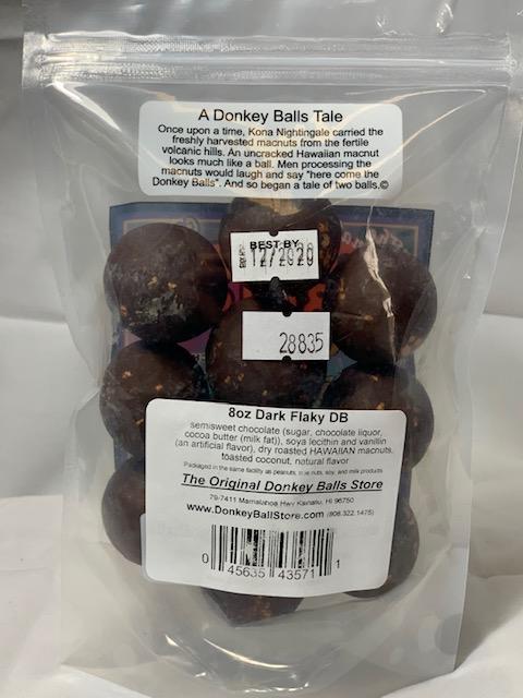 dark chocolate flaky balls