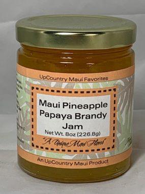 maui pineapple papaya brandy jam