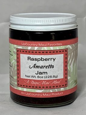 raspberry amaretto jam