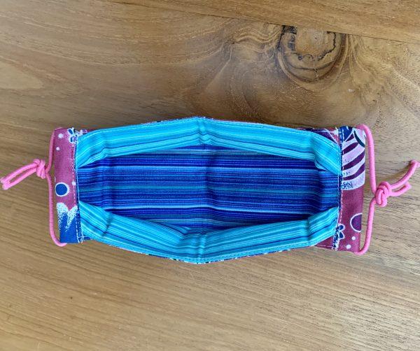 Tutu's Pantry - Reusable Face Mask made on Maui Fish Purple Hawaiian Print - 4