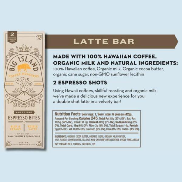 Tutu's Pantry - Big Island Coffee Roasters Latte Bar Espresso Bites - 1