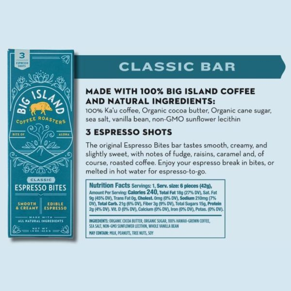 Tutu's Pantry - Big Island Coffee Roasters Classic Espresso Bites - 1