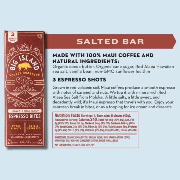 Tutu's Pantry - Big Island Coffee Roasters Red Alaea Sea Salt Espresso Bites - 1