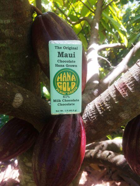 Tutu's Pantry - Hana Gold Maui Chocolates - 51% dark milk chocolate bar - 1