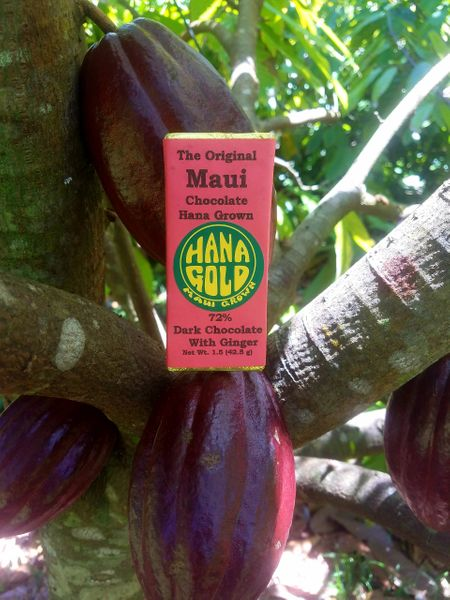 Tutu's Pantry - Hana Gold Maui Chocolates - 72% Dark Chocolate - 6