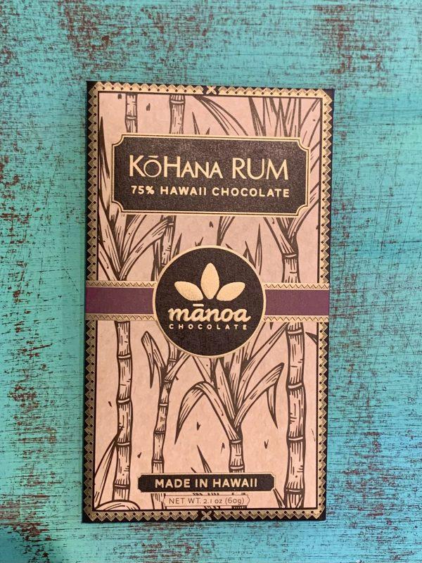 Tutu's Pantry - KōHana Rum Manoa Chocolate - 75% Hawaii Chocolate - 1