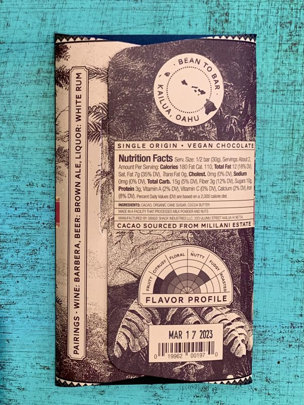 Tutu's Pantry - O'ahu Island Mililani Manoa Chocolate - 70% Dark Chocolate - 2