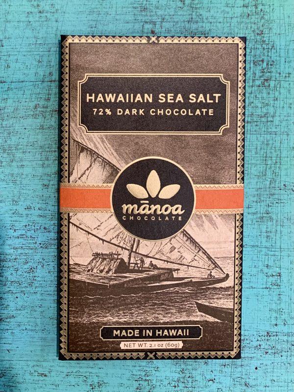 Tutu's Pantry - Hawaiian Sea Salt Manoa Chocolate - 72% Dark Chocolate - 1