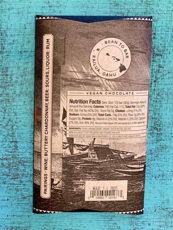 Tutu's Pantry - Hawaiian Sea Salt Manoa Chocolate - 72% Dark Chocolate - 2
