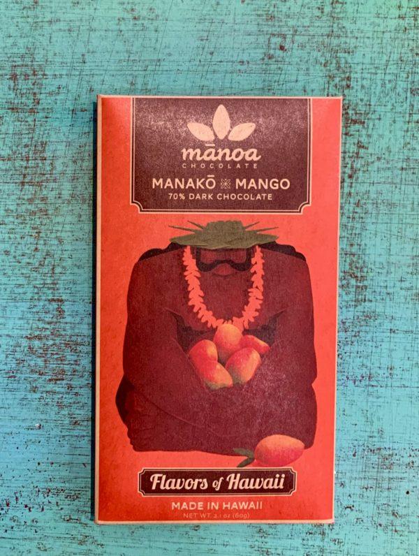 Tutu's Pantry - Manako Mango Manoa Chocolate - 70% Dark Chocolate - 1