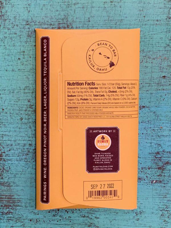 Tutu's Pantry - Liliko'i Passion Fruit Manoa Chocolate - 50% Dark Milk Chocolate - 2