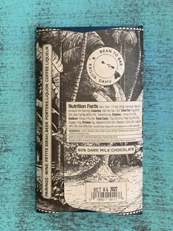 Tutu's Pantry - Breakfast Bar Manoa Chocolate Hawaiian Coffee & Nibs - 2