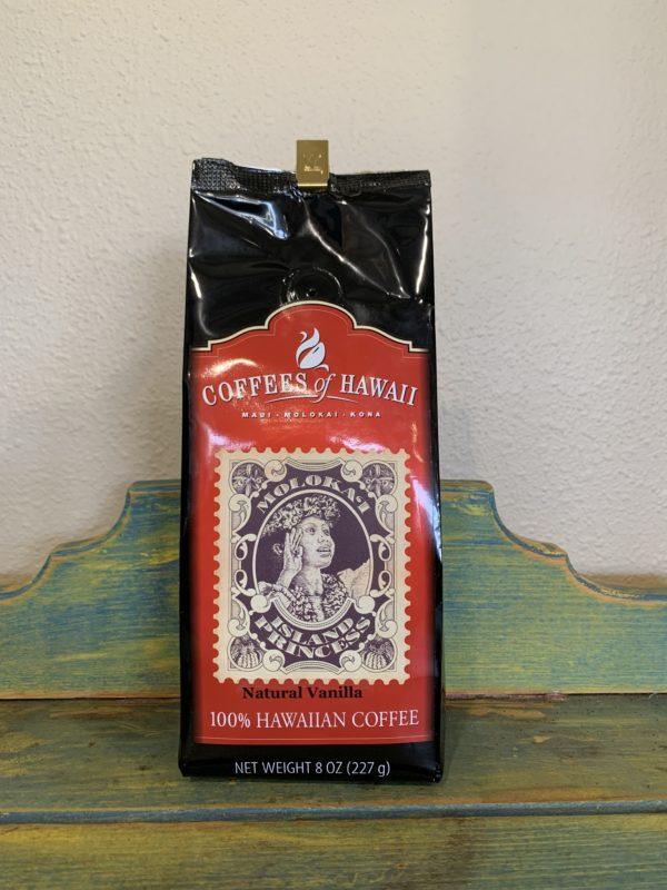 Tutu's Pantry - Coffees of Hawaii Molokai Island Princess Natural Vanilla Coffee - Whole Bean - 1