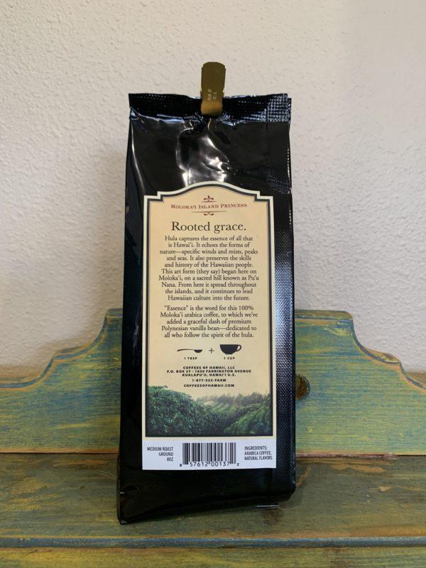 Tutu's Pantry - Coffees of Hawaii Molokai Island Princess Natural Vanilla Coffee - Whole Bean - 2