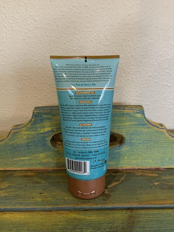 Tutu's Pantry - Maui Vera Organic Sunburn Relief - 2