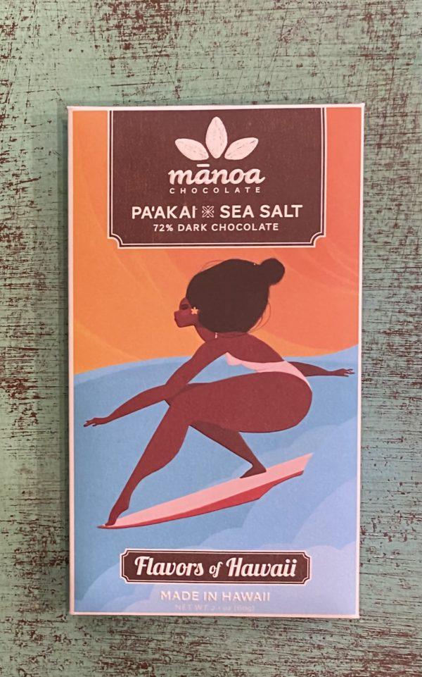 Tutu's Pantry - Sea Salt Manoa Chocolate - 72% Dark Chocolate - 1