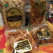 Hawaiian Coconut Candy and Macadamia Nuts Basket