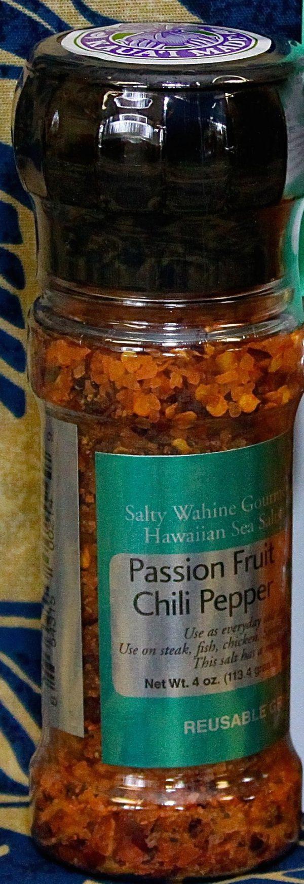 Tutu's Pantry - Passion Fruit Chilli Pepper Salt Refillable Grinder - 1