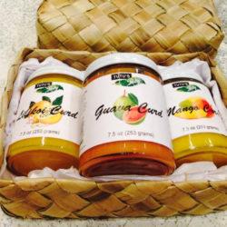 Guava, Mango, Lilikoi Curd Basket