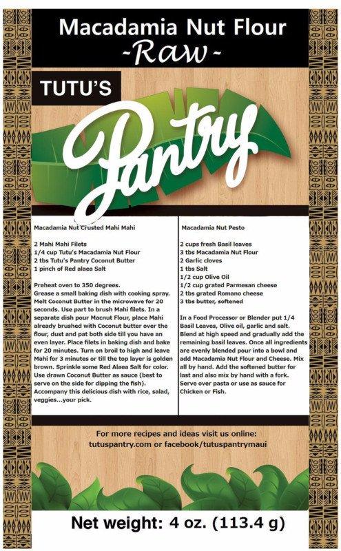 Tutu's Pantry - Macadamia Nut Flour 8oz - 2